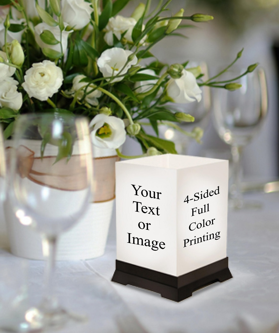Custom Table Centerpieces Personalized Wedding Decorations