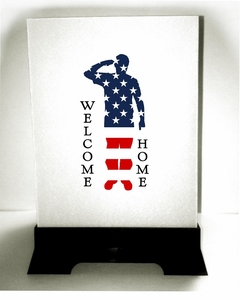 Custom luminaries military soldiers returning homecoming party for Patriotic welcome home decorations
