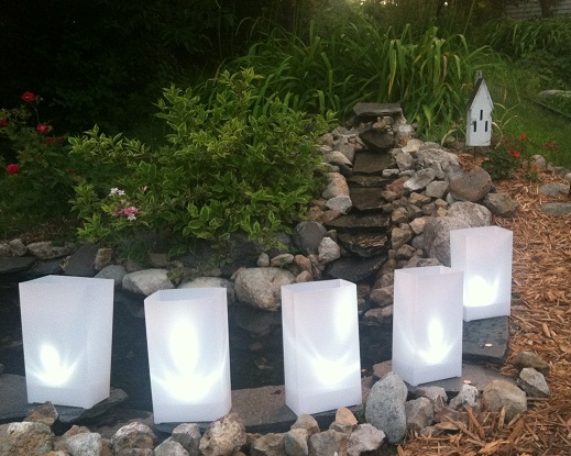 luminaries white plastic weather resistant candlelight centerpieces