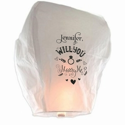 Will You Marry Me? Sky Lantern