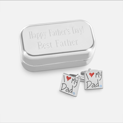 Dad Cuff Links with Personalized Case