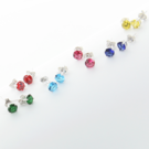 Divine Elegance 12-Pair Collection of CZ Studs in Silver