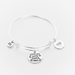 I Love You to the Moon and Back Expandable Bangle