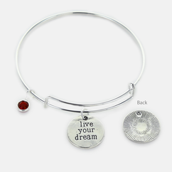 Inspirational Live Your Dream Bangle