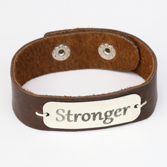 Inspirational Men's Leather Bracelet
