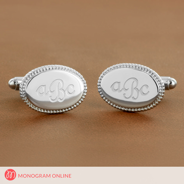 Laser Engraved Monogram Cuff Links