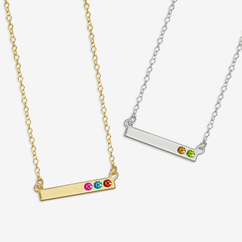 Personalized Birthstone Bar Necklace