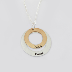 Personalized Double Circle Necklace