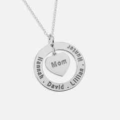 Personalized Family Names Necklace for Mom