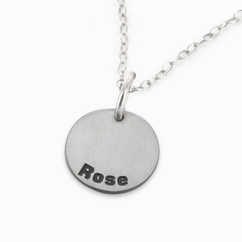 Personalized Single Full Circle Name Necklace