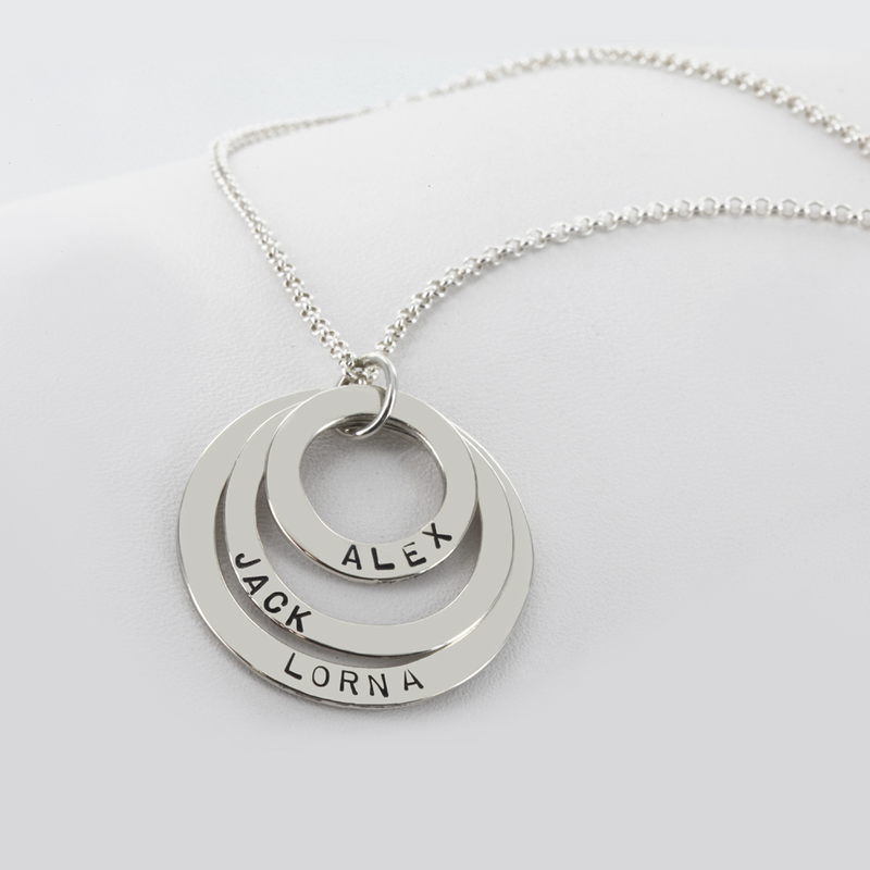 Personalized triple circle loop necklace monogram online personalized triple circle loop necklace aloadofball Gallery