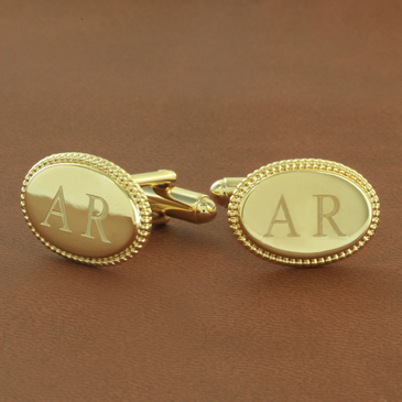 Personalized Two Initial Cuff Links