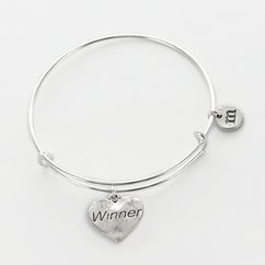 Personalized Winner Charm Bangle