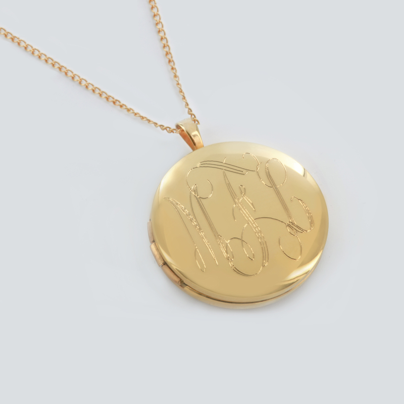 engraved period locket grand victorian gold lockets