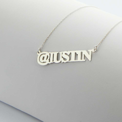 Sterling Silver @Name Necklace