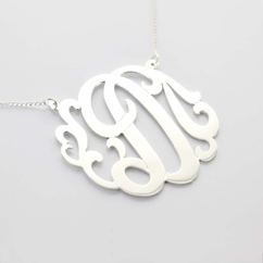 Sterling Silver Single Initial Necklace