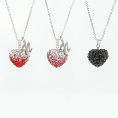 Swarovski Crystal Heart Necklace with Initial Option
