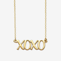 XOXO Necklace in Sterling Silver