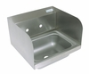 14� x 10� Stainless Steel Hand Sink w/Side Splash