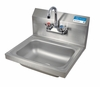 14� x 10� Stainless Steel Splash Mount Hand Sink With Faucet