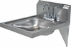 "16"" x 14"" Stainless Steel ADA Hand Sinks with Included Faucet"