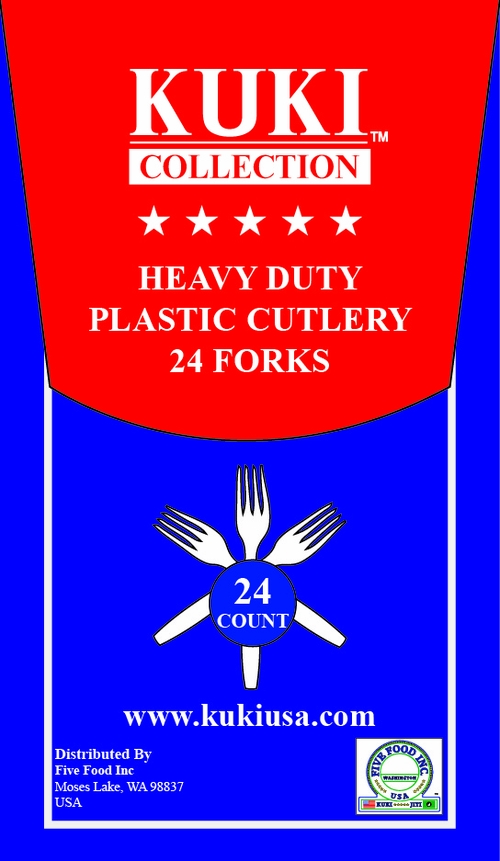 Heavy Duty Plastic Forks - 24 Count Retail