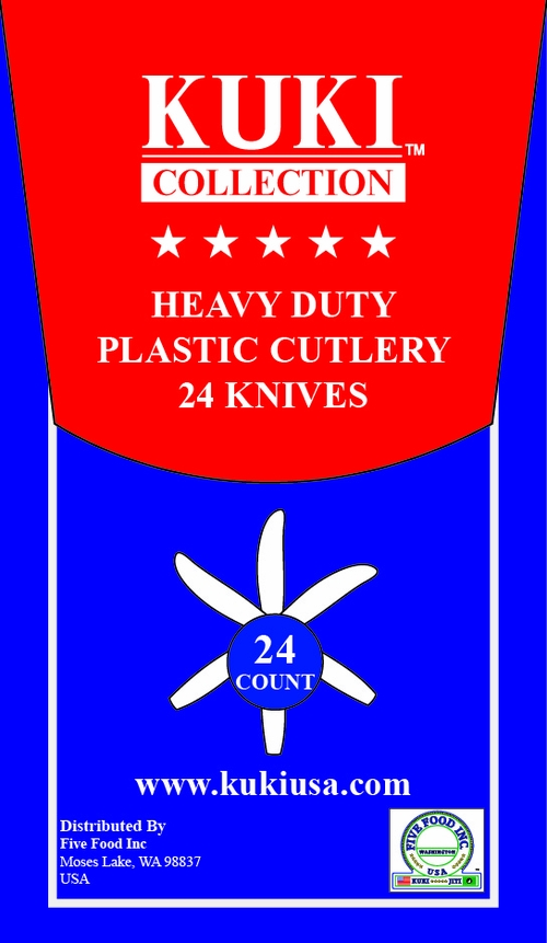 Heavy Duty Plastic Knives - 24 Count Retail