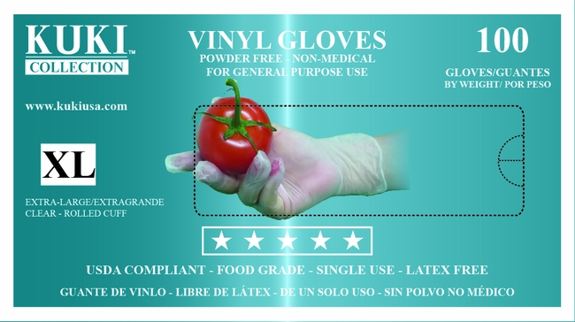 Powder Free Vinyl Gloves - Extra Large