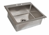 "Stainless Steel Drop In Sink 20"" x 16"""