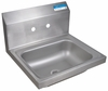 "Stainless Steel Splash Mount Hand Sink 14"" x 10"""