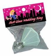 Bachelorettes Shot Glass Wedding Ring
