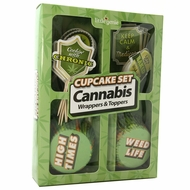Cannabis Wrappers and Toppers Cupcake Set