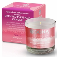 Dona Soy Massage Candle Flirty - Blushing Berry