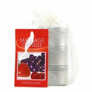 Edible Massage Oil Candle Threesome