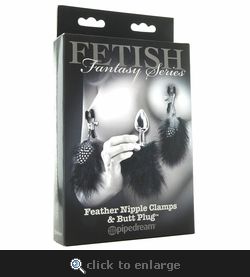 Feather Nipple Clamps & Butt Plug