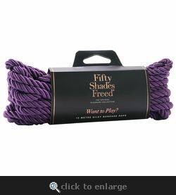 Fifty Shades of Grey Freed Want to Play? Silky Bondage Rope