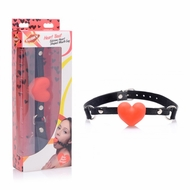 Frisky Heart Beat Silicone Heart Shaped Mouth Gag