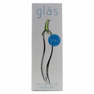 Glass Naturals Chili Pepper Glass Dildo