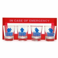 In Case of Emergency Shot Glasses