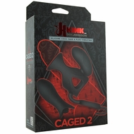 Kink Caged 2 Silicone Vibrating Cock Cage & Plug