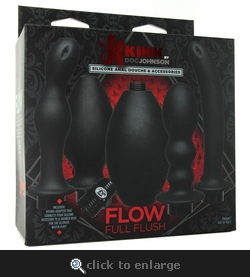 Kink Flow Full Flush Anal Douche & Accessories Kit
