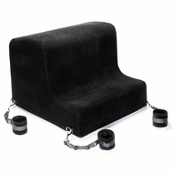 Liberator Obeir Bench w/Microfiber Cuffs Black