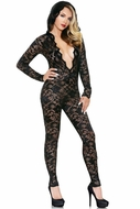 Mia Lace Hooded Jumpsuit in M/L
