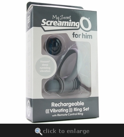 My Secret Screaming O For Him Remote Vibrating Ring Set