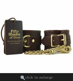 Red Room Collection Leather Wrist Cuffs Fifty Shades of Grey