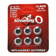 Screaming O AG13 / LR44 Replacement Batteries 6 Pack
