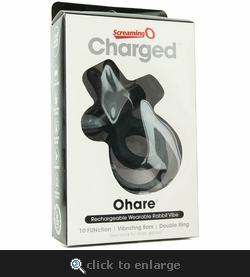 Screaming O Charged OHare 10X Silicone Rabbit Vibe Ring