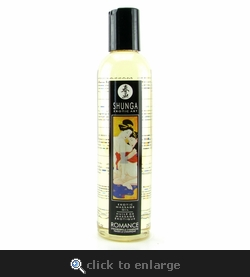 Shunga Erotic Massage Oil 8oz/250ml in Romance