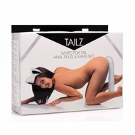 Tailz White Fox Tail Anal Plug and Ears Set