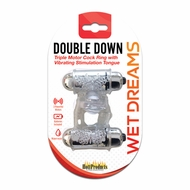Wet Dreams Double Down Dual Motor Cock Ring